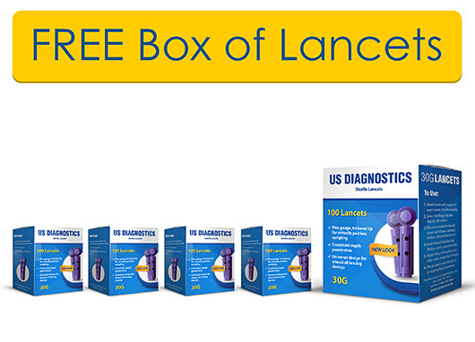 FREE BOX OF LANCETS  WITH PURCHASE OF 4